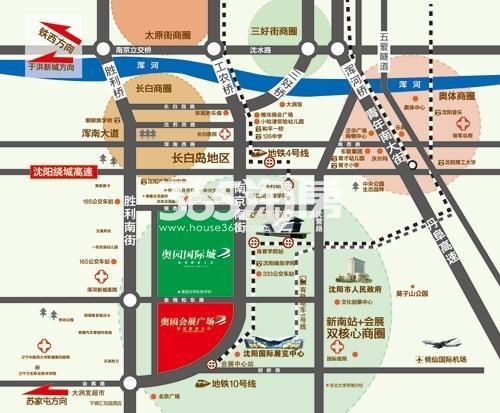 奥园国际城交通图