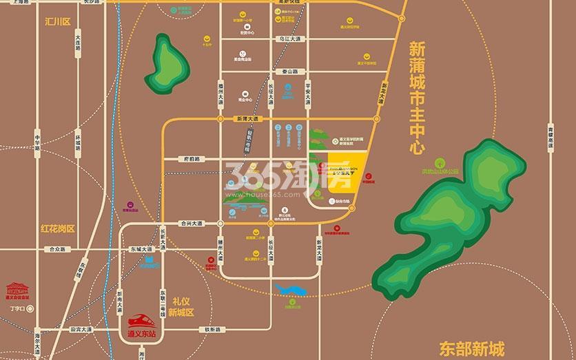 美的·公园天下交通图