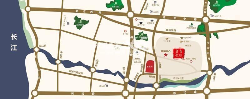 东方龙城木兰苑交通图
