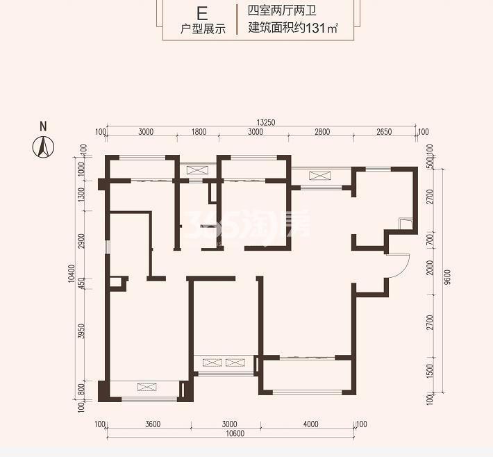 龙湖紫宸131㎡E户型