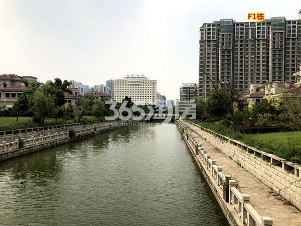 蠡湖一号二期F1栋高层现房沿河实景(2018.6摄)