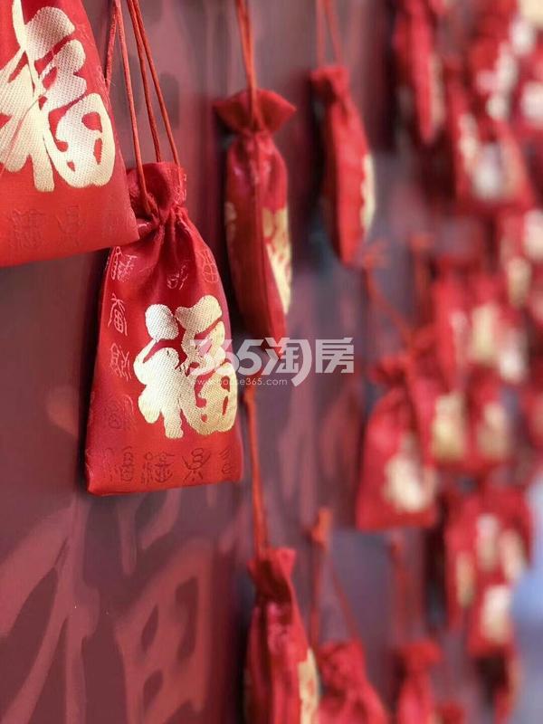 融创城售楼部内春节气氛装饰实景(2018.2.5)