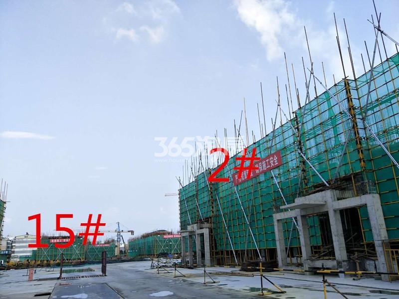 绿地理想城悦湖公馆2#楼约建至3层15#楼约建至两层(8.15)