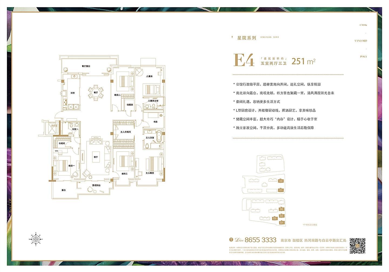 桃园世纪E4户型251㎡户型图
