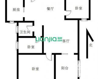 经典华城3室1厅1卫89㎡整租精装