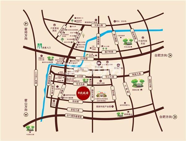 众安·玖珑府交通图