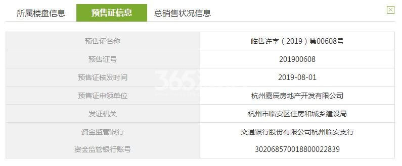 中天万科启宸12#预售证信息