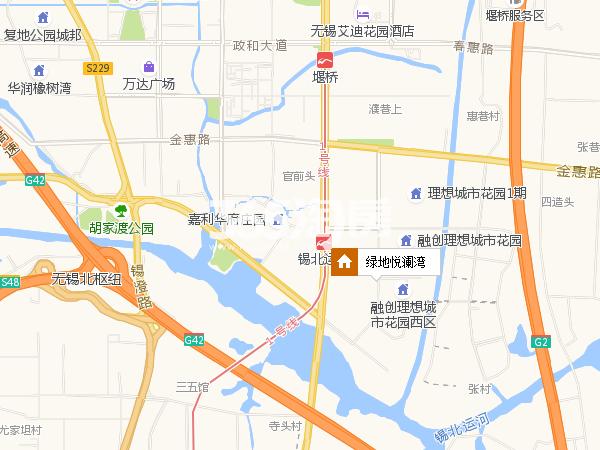 绿地悦澜湾交通图