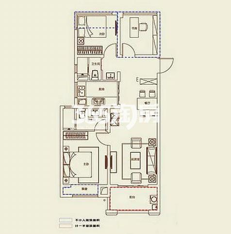 A1户型, 3室2厅2卫1厨