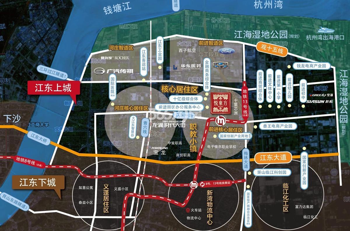 杭房悦东方交通图