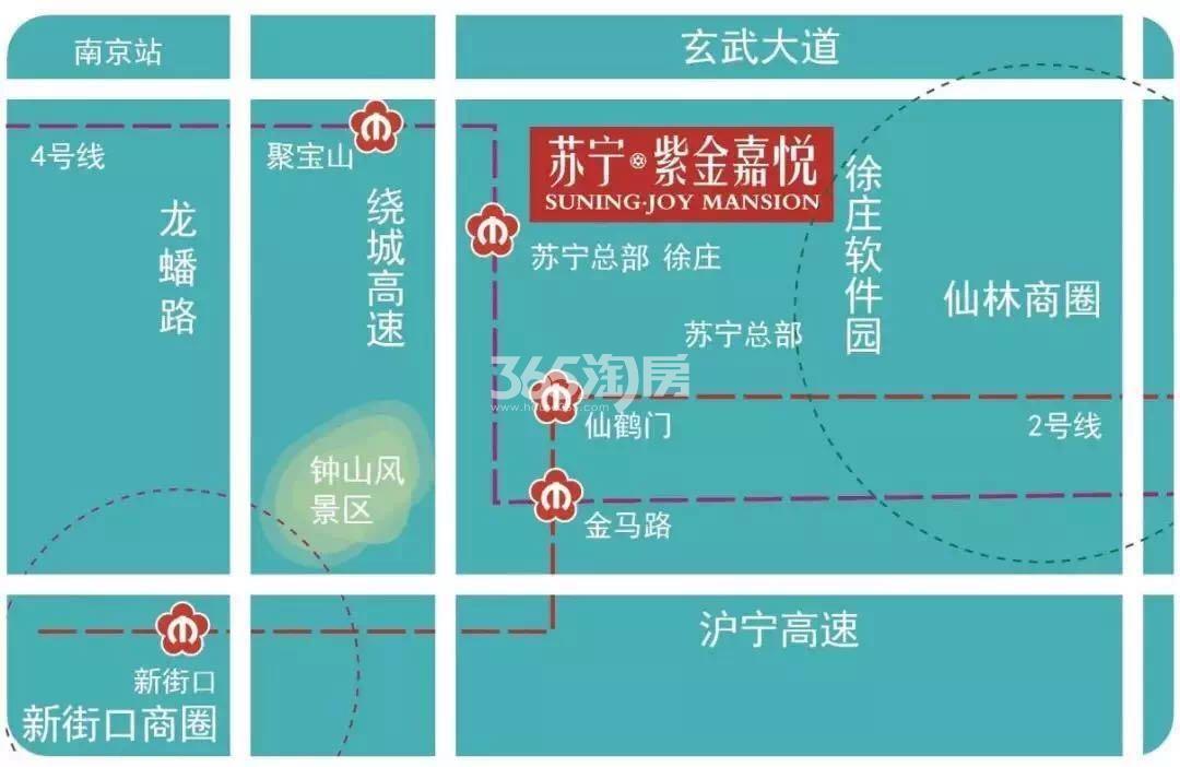 苏宁嘉悦交通图