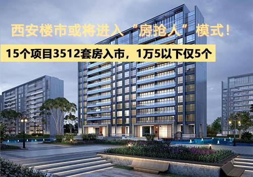 """15个项目3512套房入市,1万5以下仅5个,西安楼市或将进入""""房抢人""""模式!"""