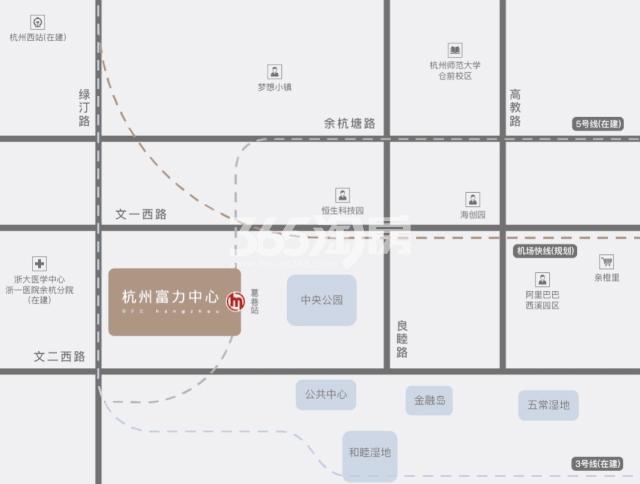 杭州富力中心交通图