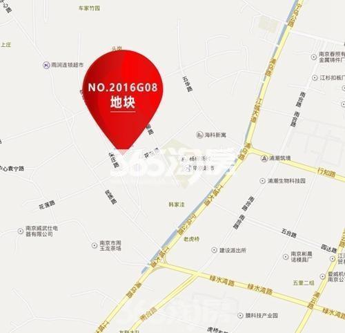 江浦G08地块区位图