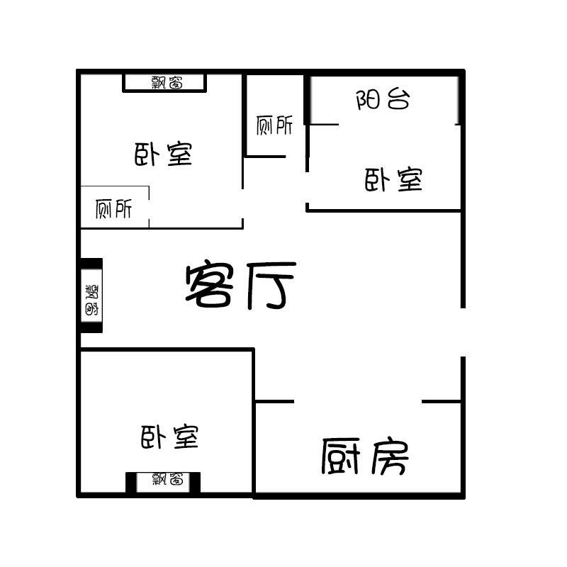南山丽都.3室3厅3卫110㎡整租简装