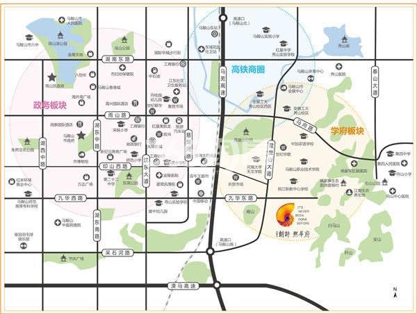 朗诗·熙华府交通图