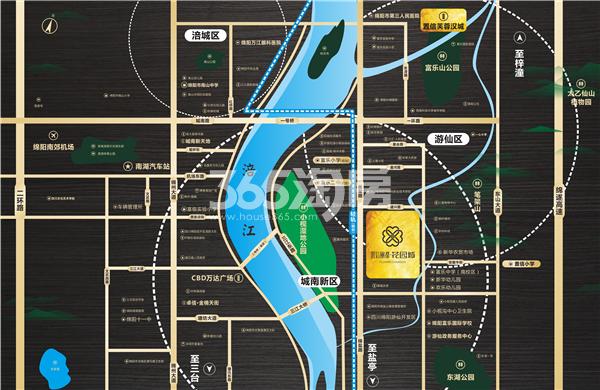 置信丽都·花园城交通图