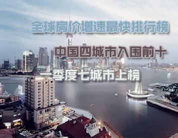 中国四城市入选全球房价增速榜前十
