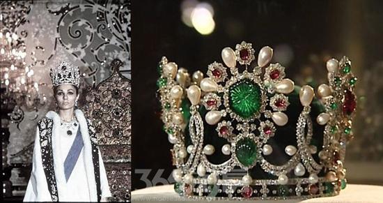 法拉赫巴列维皇后特别定制祖母绿王冠(资料图片)