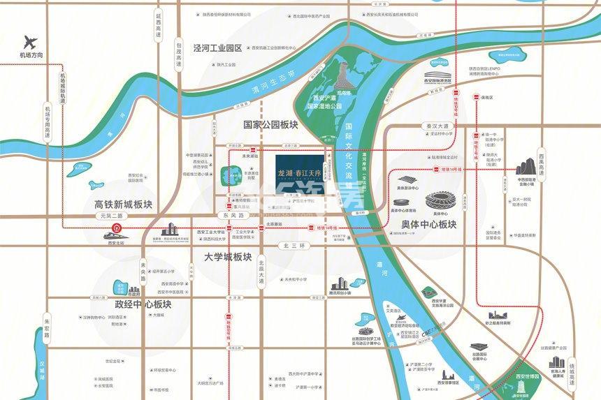 龙湖春江天序交通图