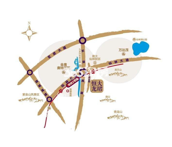 恒大龙珺交通图