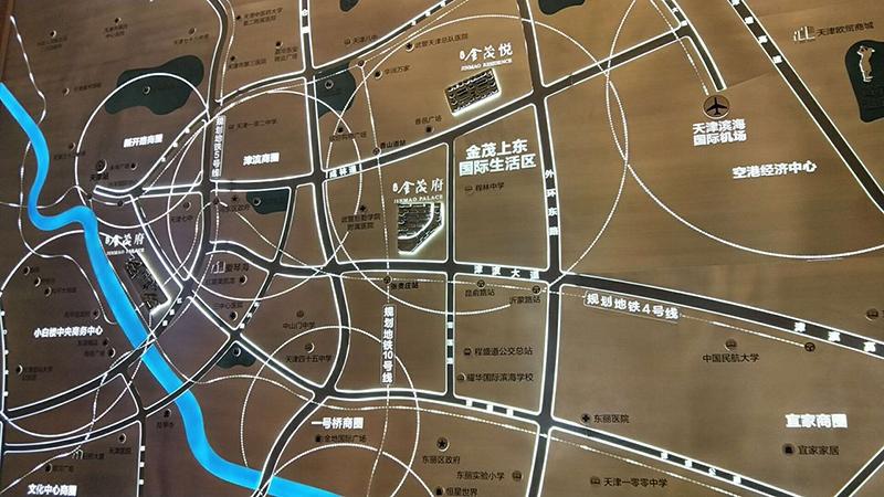 上东金茂府交通图