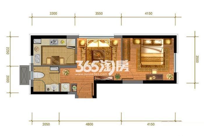 5#、7# 1室1厅1卫 58平米