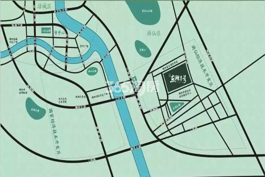 凯越·东湖1号交通图