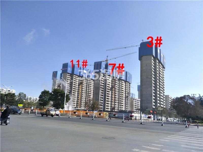万科新都会在建3、7、11#楼及周边交通实景图(10.19)