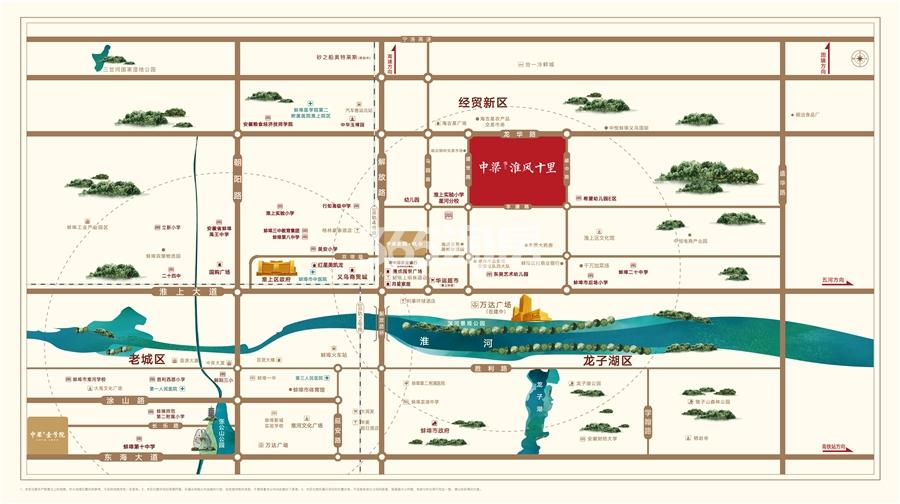 中梁淮风十里交通图