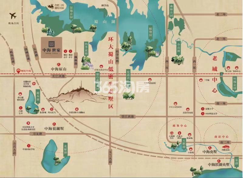 中海世家交通图