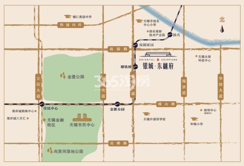 银城东樾府交通图
