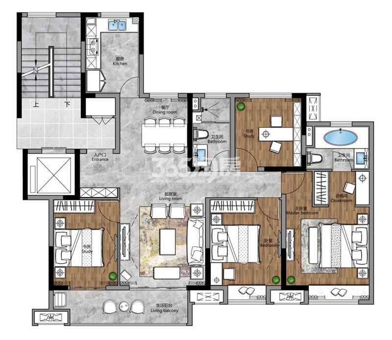 梧桐公馆129㎡四室两厅两卫