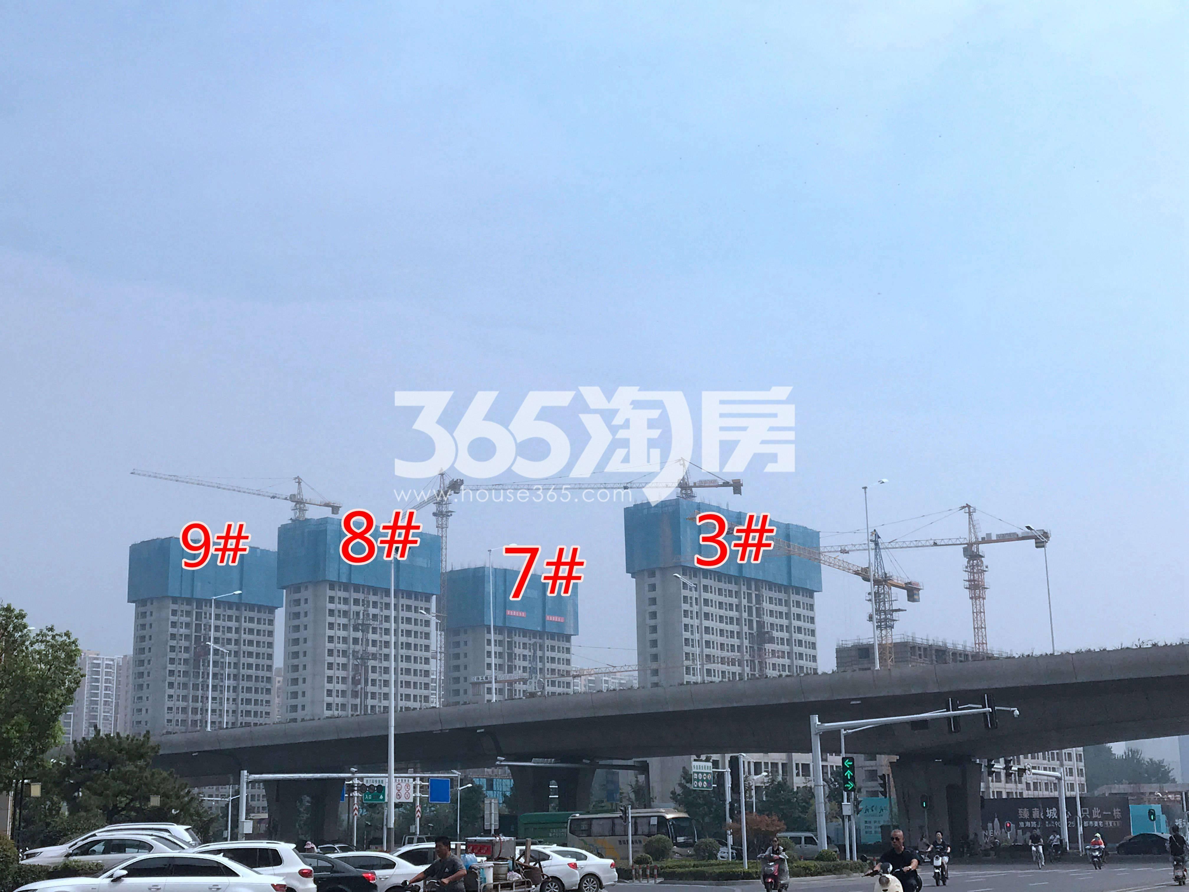 万科淮海天地八街区工地整体建设实景图(8.27)