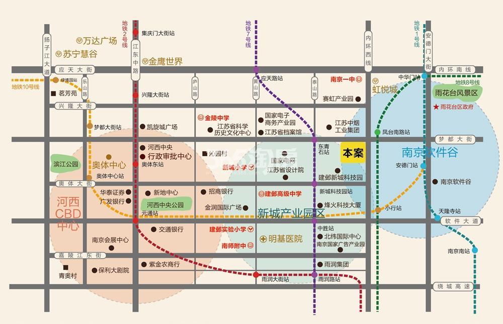 天合广场交通图