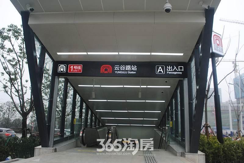 信达公园里周边配套地铁1号线云谷路站实景图(2017.8)
