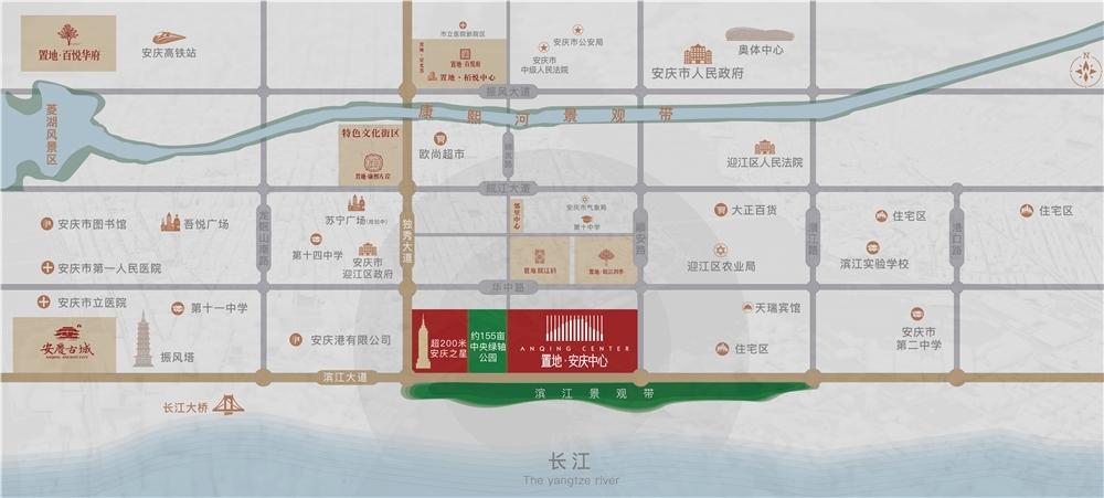 置地安庆中心交通图