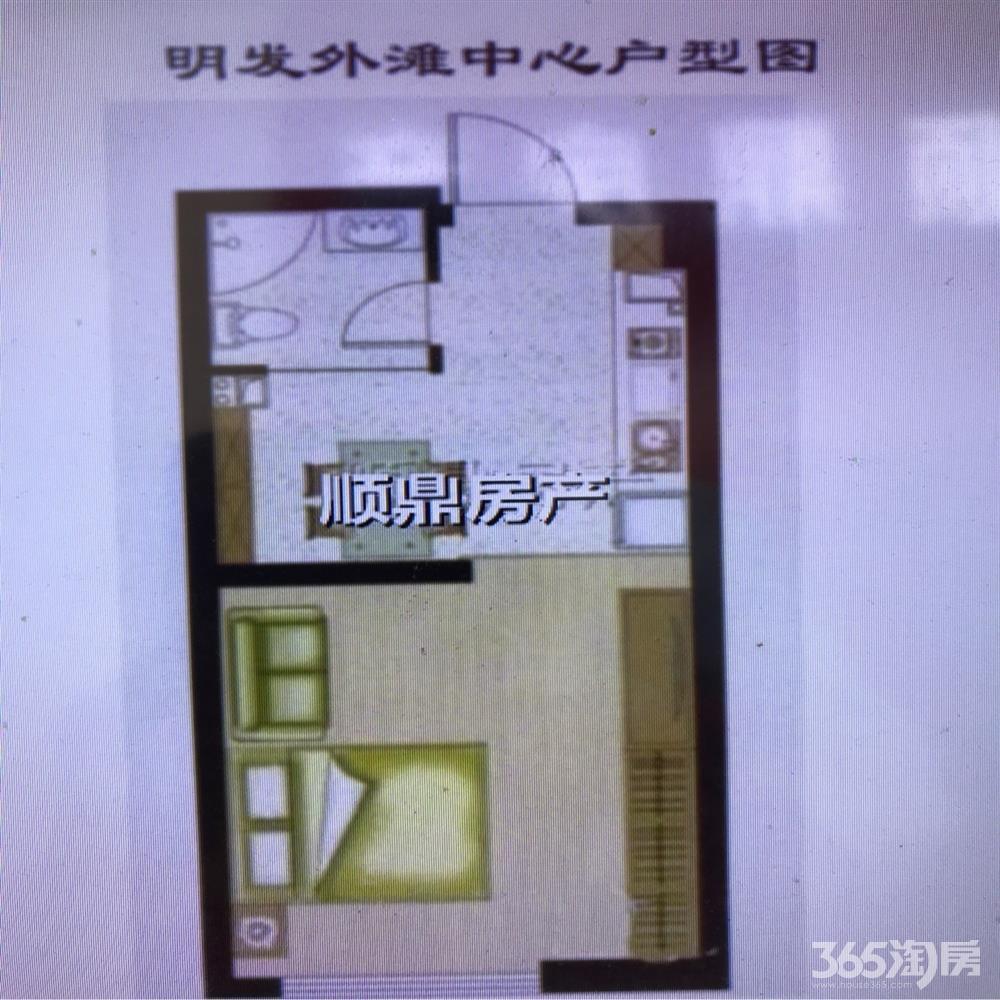 浦口区桥北明发滨江新城二期1室1厅户型图