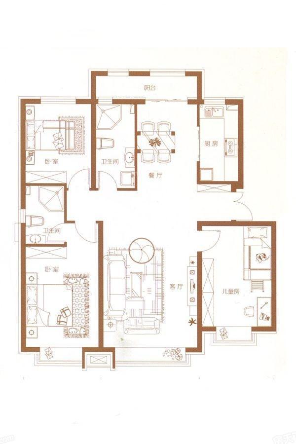 6#建筑137.99㎡户型