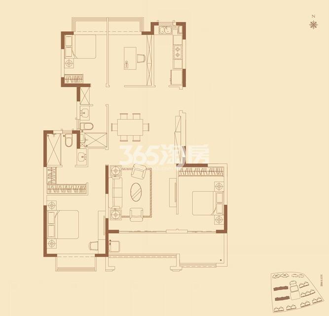 恒大翡翠公园洋房141平户型图