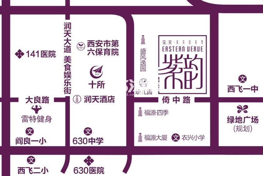 宝安紫韵交通图