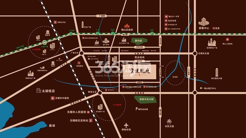 光明合景玺悦珑庭交通图
