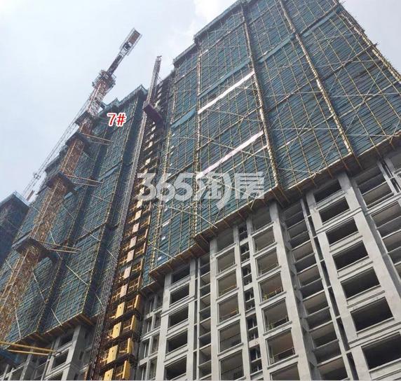 中国铁建西湖国际城7号楼施工进程(2018.8)