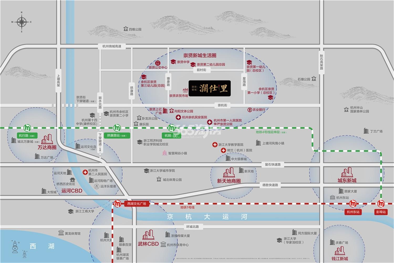 路劲银城澜仕里交通图