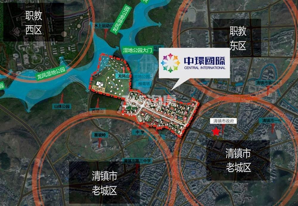 中环国际交通图