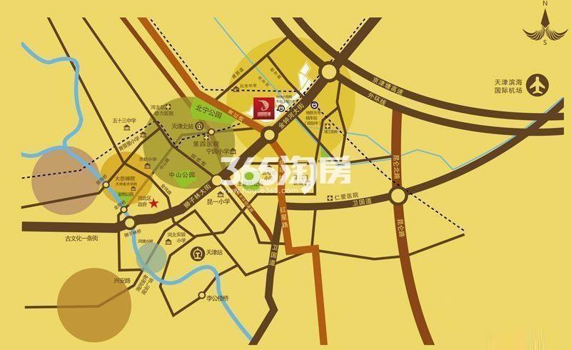 中国铁建国际城交通图