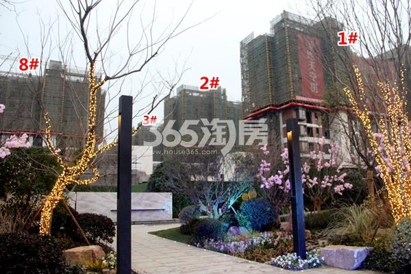 绿地天空树1#、2#、8#楼洋房工程进度实景图(2017.12摄)
