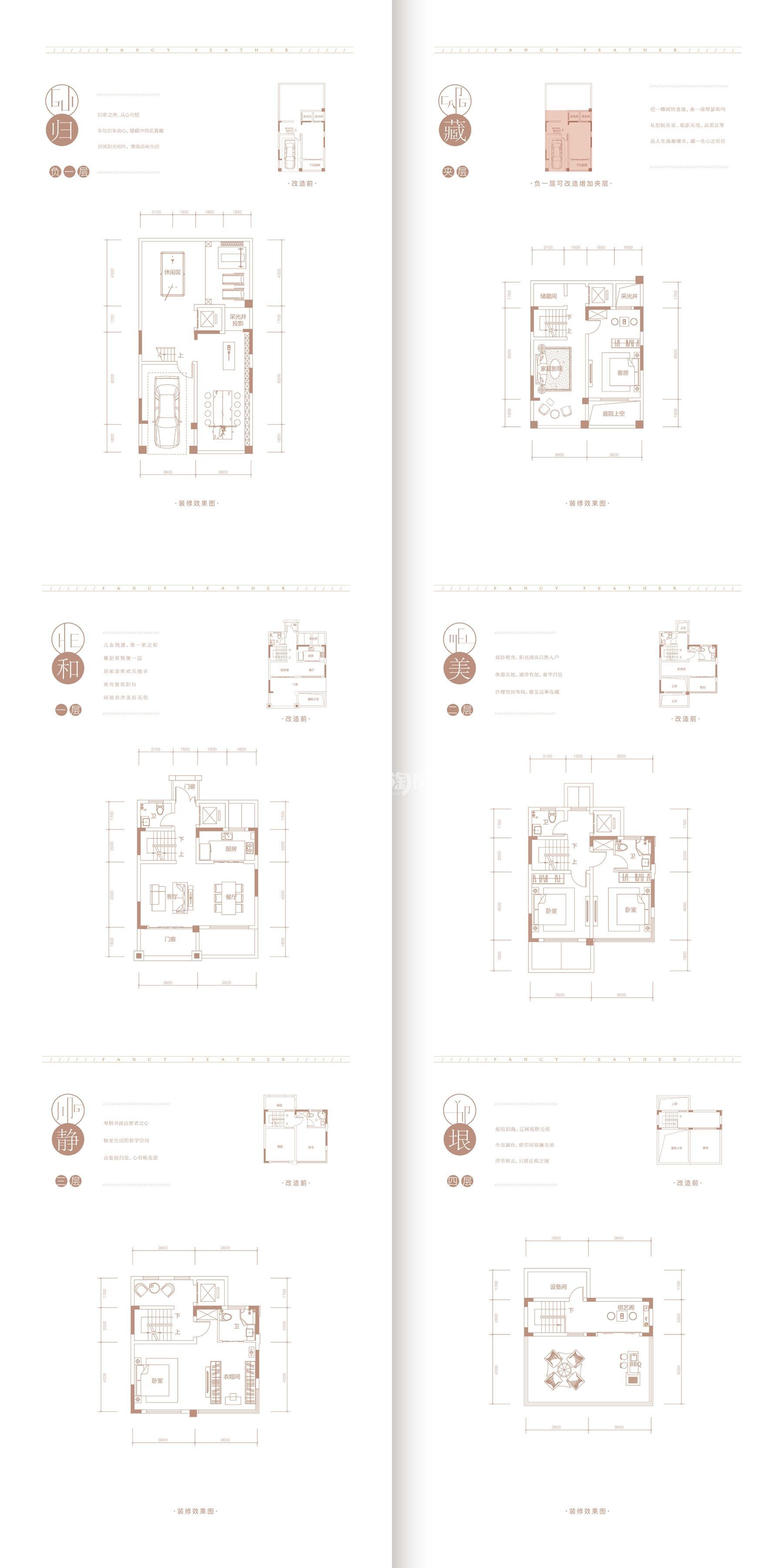 丽丰璞羽山193-209㎡别墅户型图
