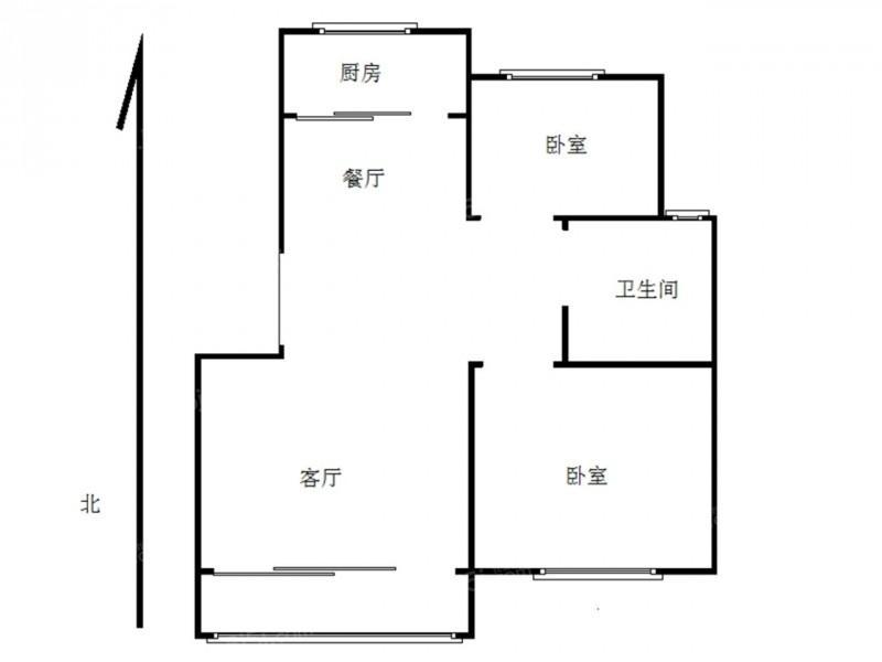 六合区山潘街道晓山北村2室1厅户型图