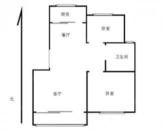 晓山北村两室一厅精装修拎包入住